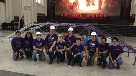 NYU Tandon Steel Bridge Team qualified for the 2016 national ASCE competition