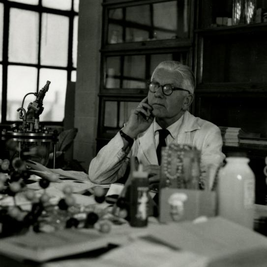 Herman Mark in his lab