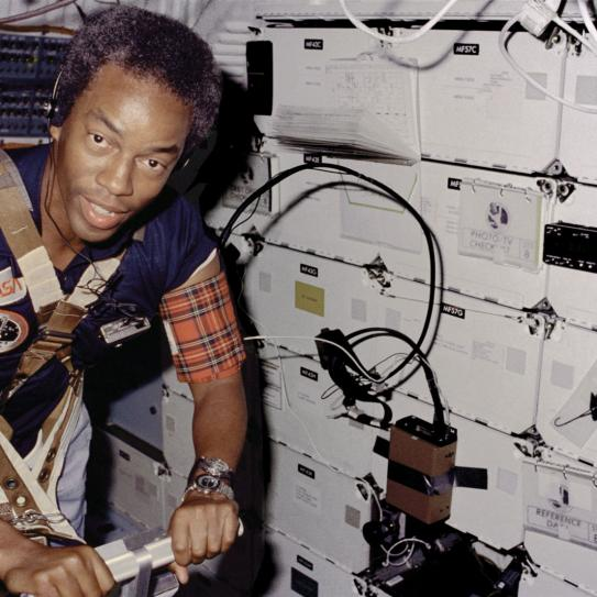NASA photo of Guion Bluford