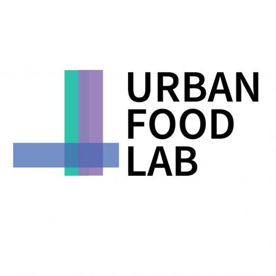 "Logo of Urban Food Lab with ""Urban Food Lab"" in black letters"