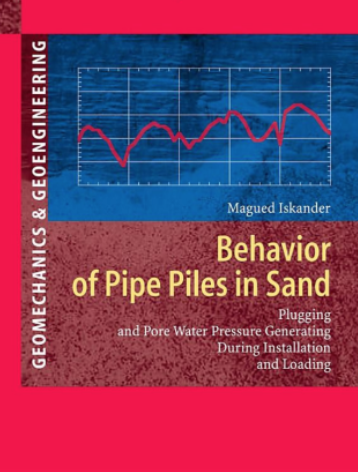 Book about pipe piles in sand