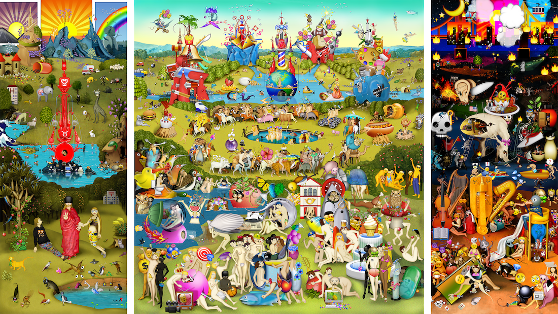 "Still of artwork: ""Garden of Emoji Delights"""