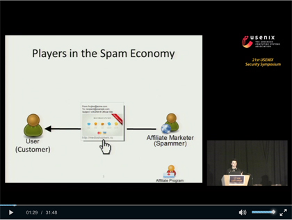 Screenshot of Damon McCoy's PharmaLeaks presentation
